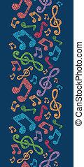 kleurrijke, muzikale aantekeningen, verticaal, seamless,...