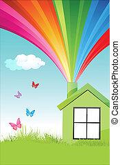 kleurrijke, natuurlijke , thuis