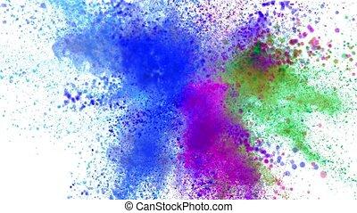 kleurrijke, poeder, fantastisch, achtergrond, het exploderen...