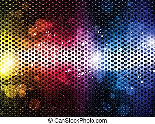 kleurrijke, regenboog, neon, feestje, achtergrond