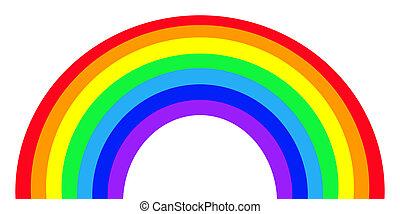 kleurrijke, regenboog