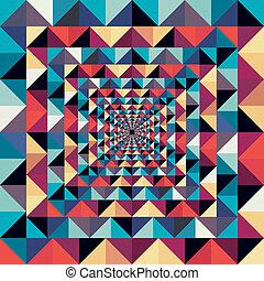 kleurrijke, retro, abstract, visueel resultaat, seamless,...