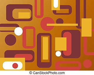 kleurrijke, retro, achtergrond