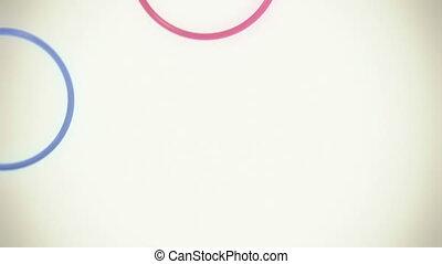 kleurrijke, ringen, lus, met, copyspace