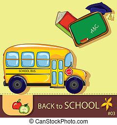 kleurrijke, school, achtergrond