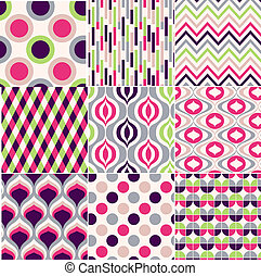 kleurrijke, seamless, geometrisch patroon