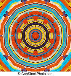 kleurrijke sinaasappel, abstract, -, p, retro, achtergrond, sierlijk, cyan