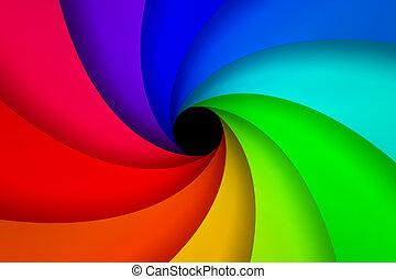 kleurrijke, spiraal