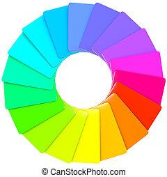 kleurrijke, spiraal, swatch, model