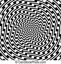 kleurrijke, spiraalvormig ontwerp, achtergrond, beweging, illusie, circulaire