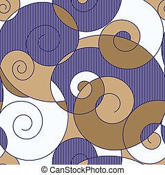kleurrijke, spiralen, seamless, abstract