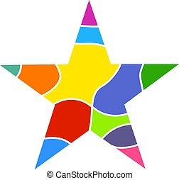 kleurrijke, ster