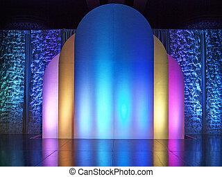kleurrijke, toneel