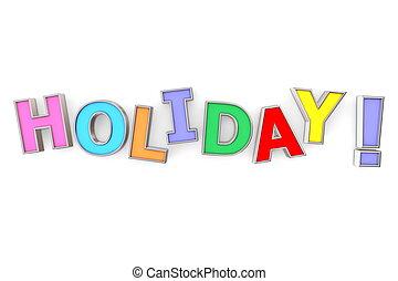 kleurrijke, vakantie