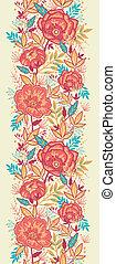 kleurrijke, vibrant, bloemen, verticaal, seamless, model,...