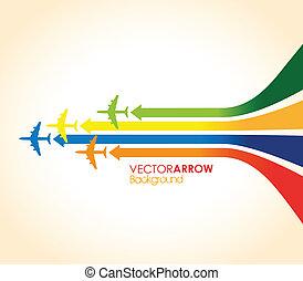 kleurrijke, vliegtuigen