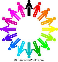 kleurrijke, volkeren