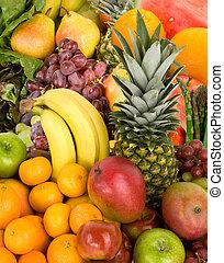 kleurrijke, vruchten