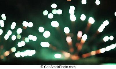 kleurrijke, vuurwerk beeldscherm