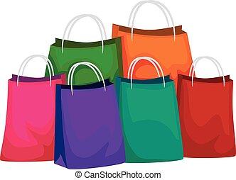 kleurrijke, winkeltas