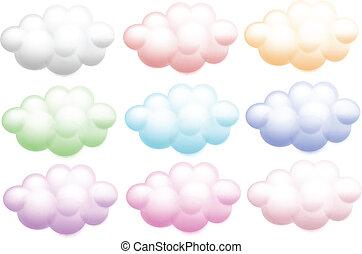 kleurrijke, wolken