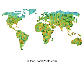 kleurrijke, worldmap