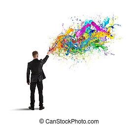 kleurrijke, zakelijk, creatief
