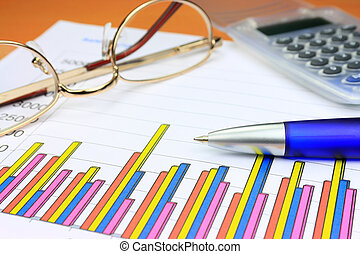 kleurrijke, zakelijk, tabel