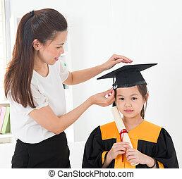 kleuterschool, afgestudeerd