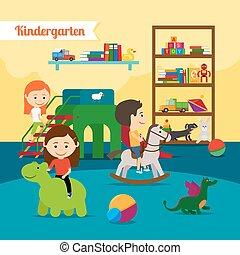 kleuterschool, kinderen