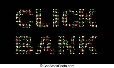 klicken, bank, bunte, leuchtdiode, zeichen