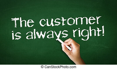 klient, always, dobry, kreda, ilustracja