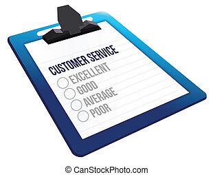 klient, kwestionariusz, sprzężenie zwrotne, służba