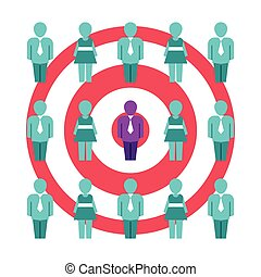 klient, płaski, styl, pojęcie, wektor, optimization, wartość