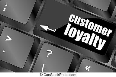 klient, słowo, keypad, guzik, lojalność, klucz