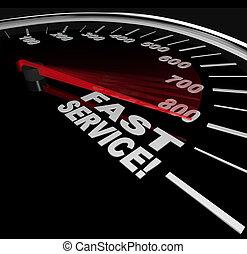 klient służba, poparcie, -, mocny, szybki, szybkościomierz