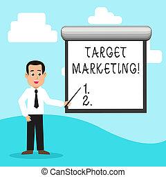 klient, segmentation, pojęcie, marketing., tarcza, tekst, treść, audiencja, celowanie, pismo, selection., targ