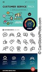 klient, sevice, projektować, ikony