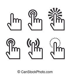 klikken, pictogram