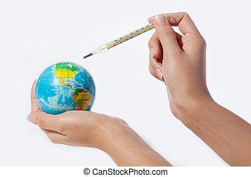 klima, begriff, global, gegen, wärmen, umweltschutz, änderung