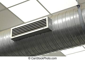 klimaanlage, system, in, a, fabrik