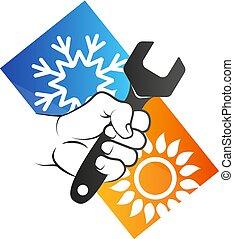 klimaanlage, und, belüftung, reparatur