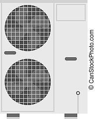klimaanlage, vektor, illustration.