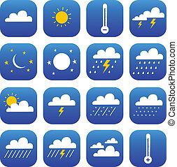 klimat, sätta, väder