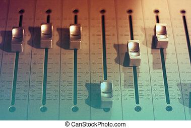 klingen, ton, studio, mixer
