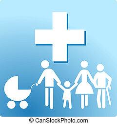 kliniek, gezin