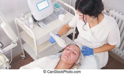kliniek, porie, procedure, zuivering