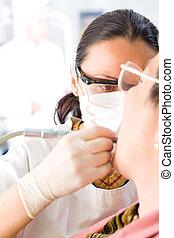 klinik, dental, läkare