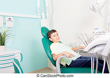 klinik, litet, unge, dental, le
