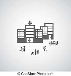 klinikum, design, symbol